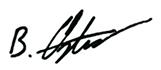 Benedikt Oster Unterschrift